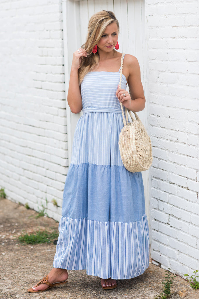 Getting To Know You Maxi Dress, Blue