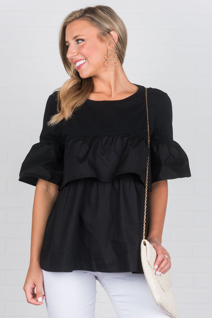 Baby Be Bold Top, Black