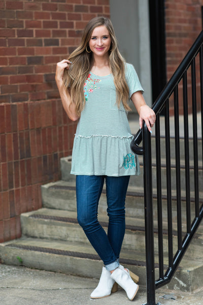 Upgraded Casual Top, Gray