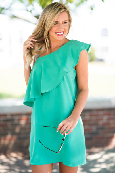 At First Glance Dress, Kelly Green