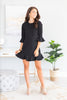 Always So Peppy Black Ruffled Dress