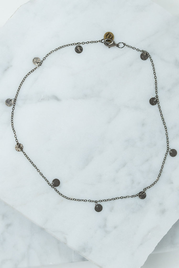 necklace, choker, choker necklace, accessory, jewelry, gunmetal, Raw & Rebellious