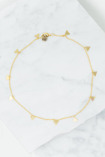 Raw & Rebellious: Sunset Lover Choker, Gold