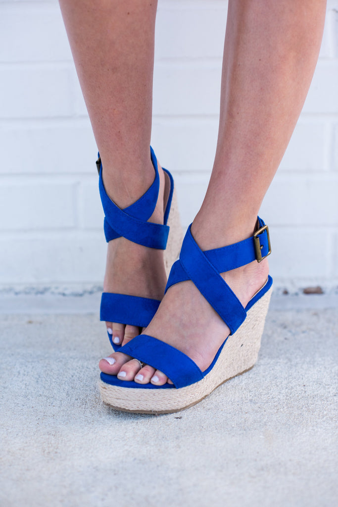 Off To Anywhere Wedges, Navy