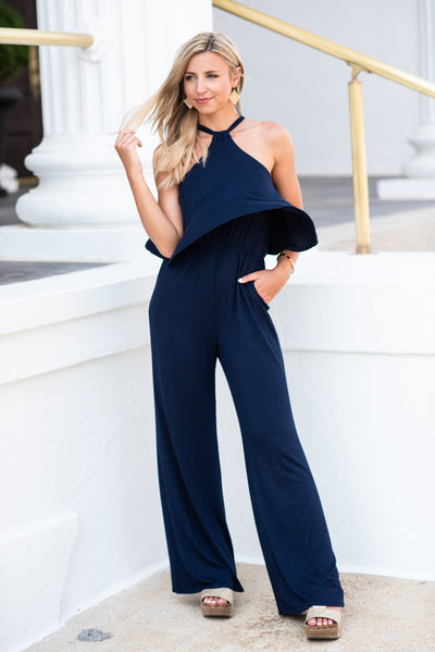 Believe In Miracles Jumpsuit, Navy