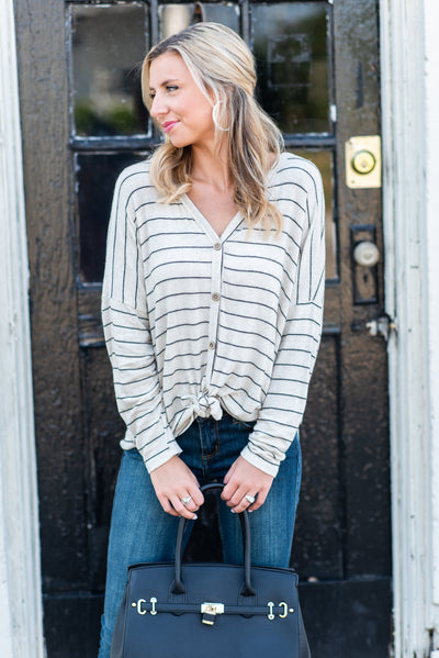 The Best Day Ever L/S Top, Ivory-Black