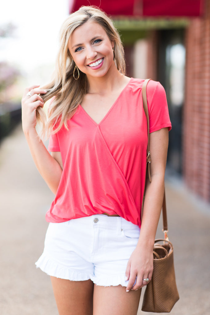 Easy Life Top, Coral