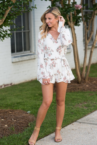At Your Best Romper, Ivory