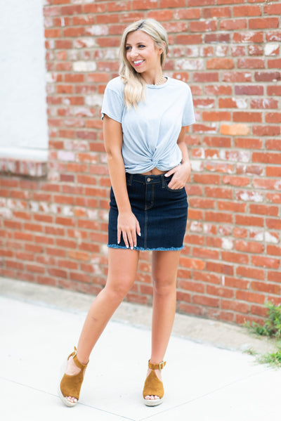 The Show Stopper Skirt, Indigo