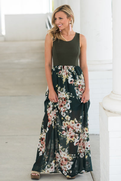 Full Of Fun Maxi Dress, Hunter Green