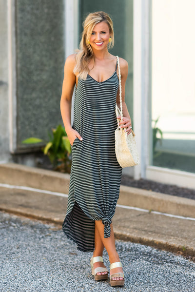 All You Can Do Maxi Dress, Charcoal