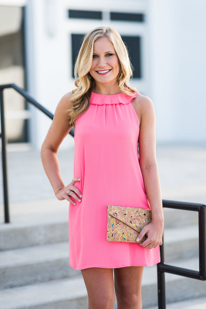 Feeling Feminine Dress, Candy Pink