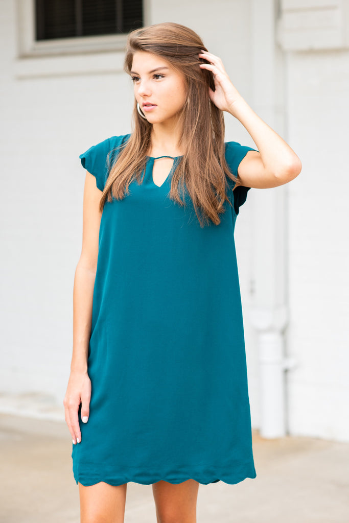 Getting Closer To You Dress, Sea Green