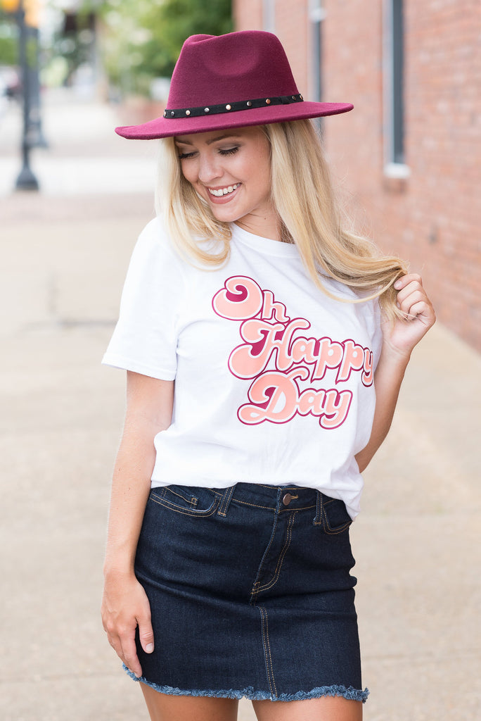 Oh Happy Day Tee, White