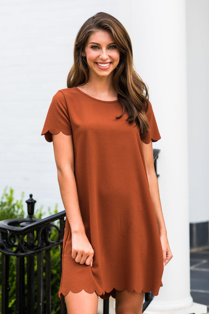 Love This Feeling Dress, Rust