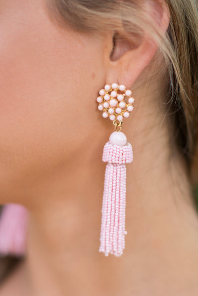 Daring Details Earrings, Pink