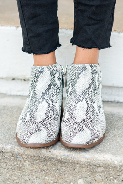 Steven by Steve Madden: The Chavi Booties, Snakeskin
