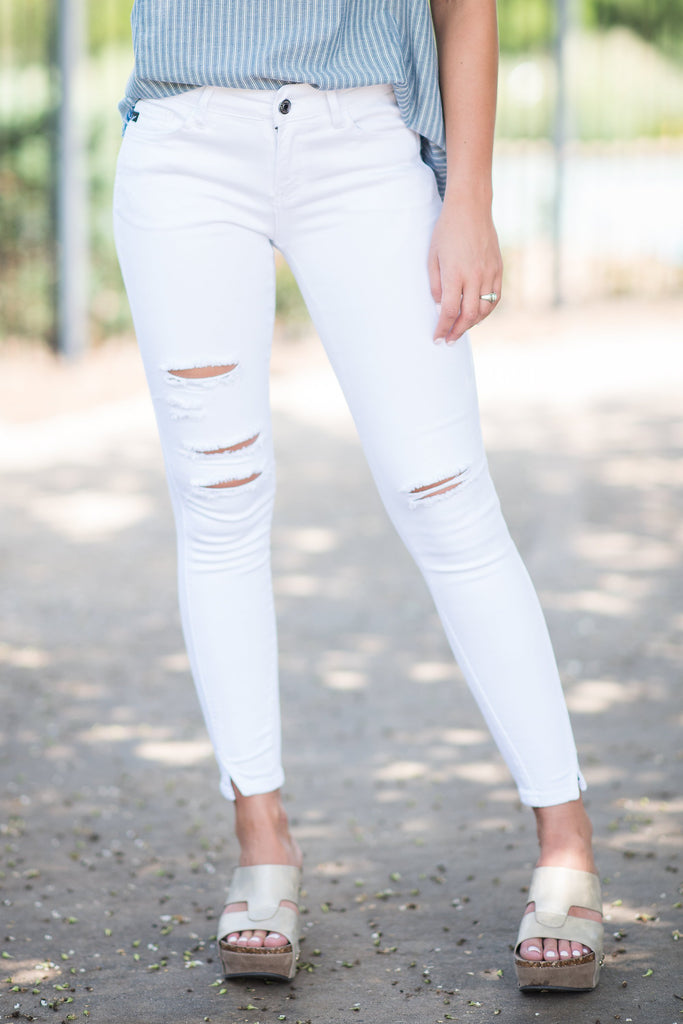 Lucky In Love Skinny Jeans, White
