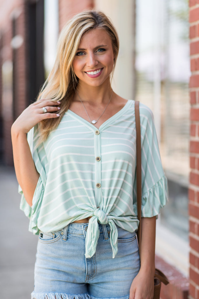 Always Be The Best Top, Mint-White
