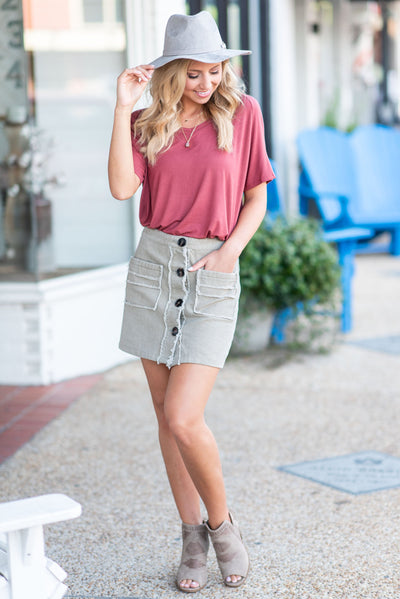 Always A Fan Favorite Skirt, Olive