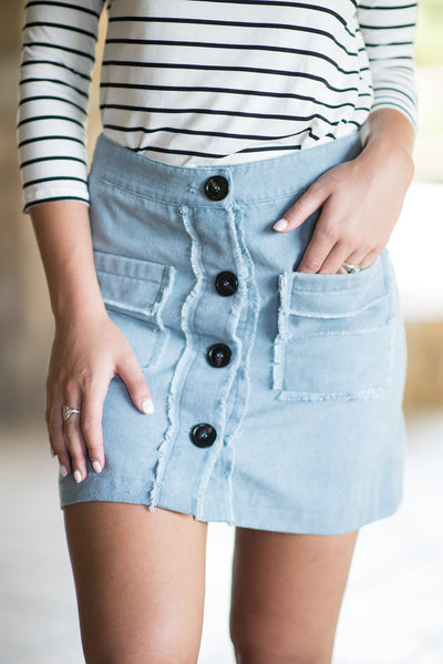 Always A Fan Favorite Skirt, Baby Blue