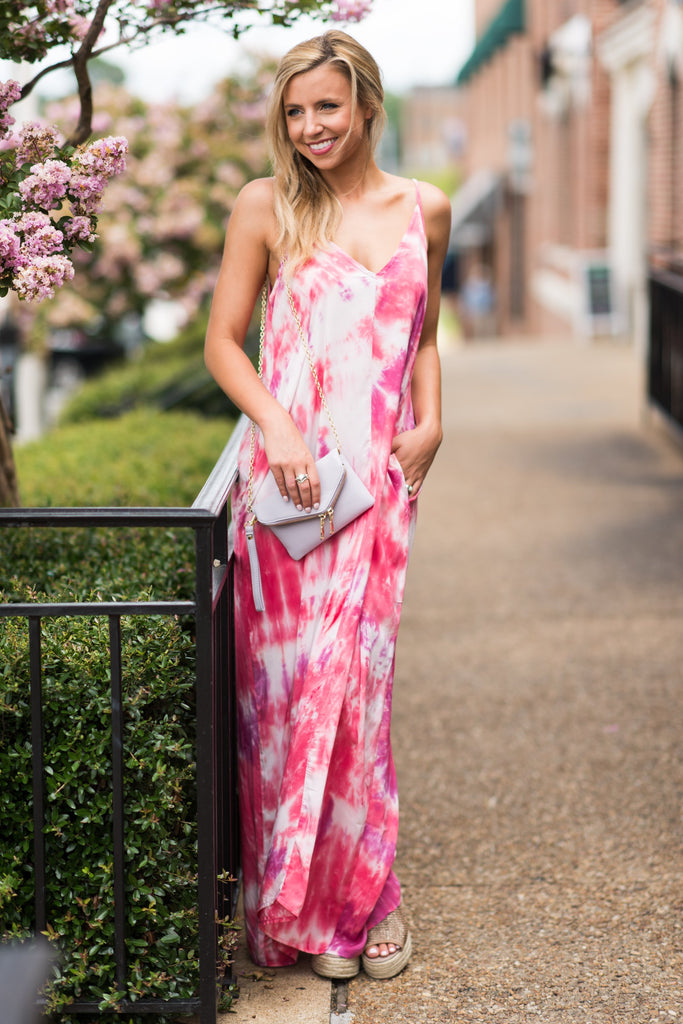 Totally Awesome Maxi Dress, Berry-Watermelon