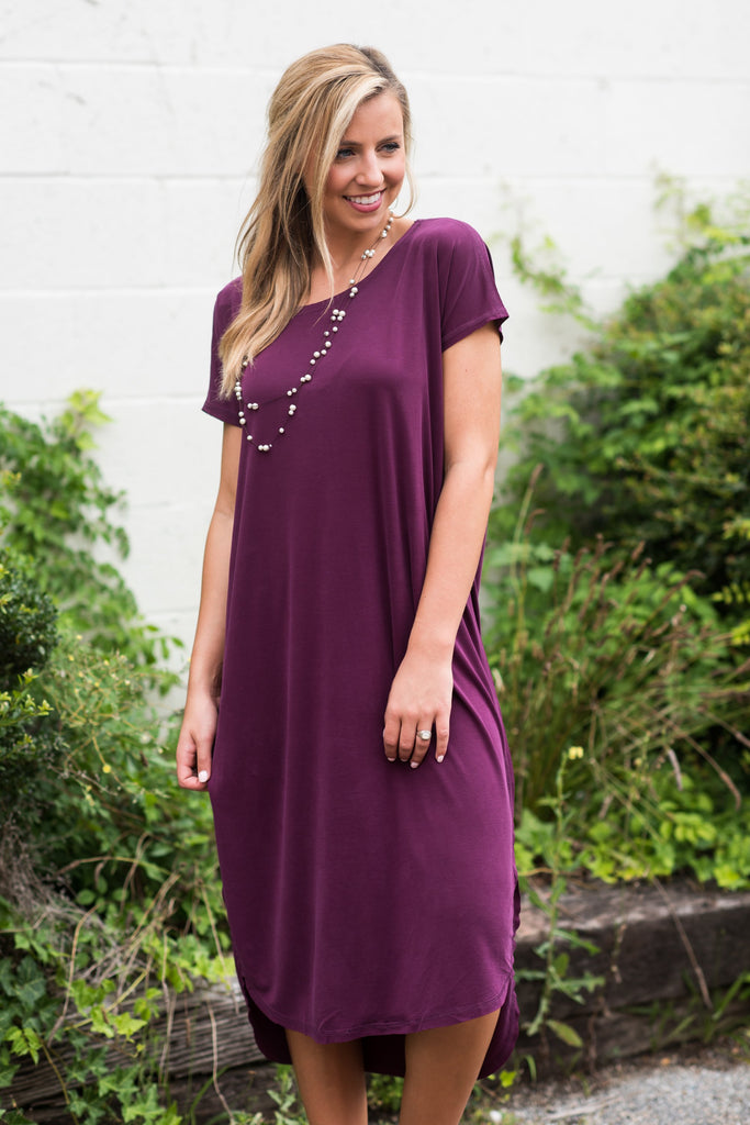 Feel The Connection Dress, Deep Purple