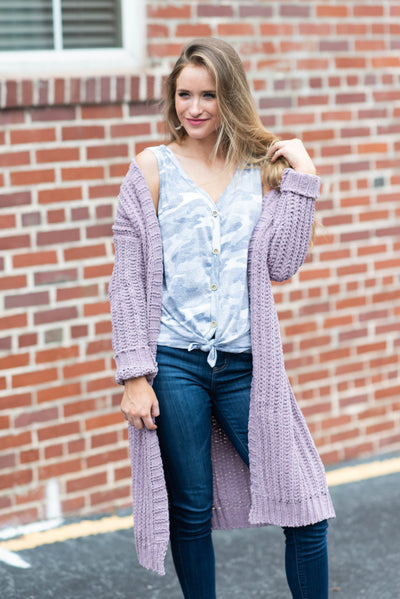 Relentless Style Cardigan, Lavender