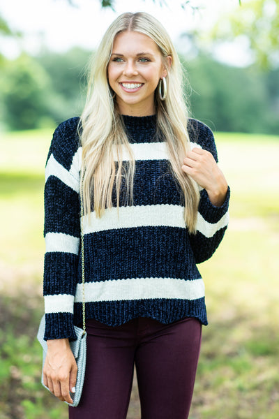 Across The Pond Sweater, Navy