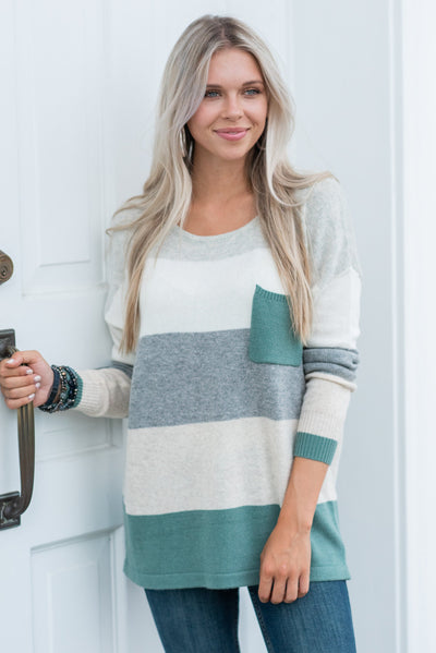 Power In Comfort Sweater, Sage