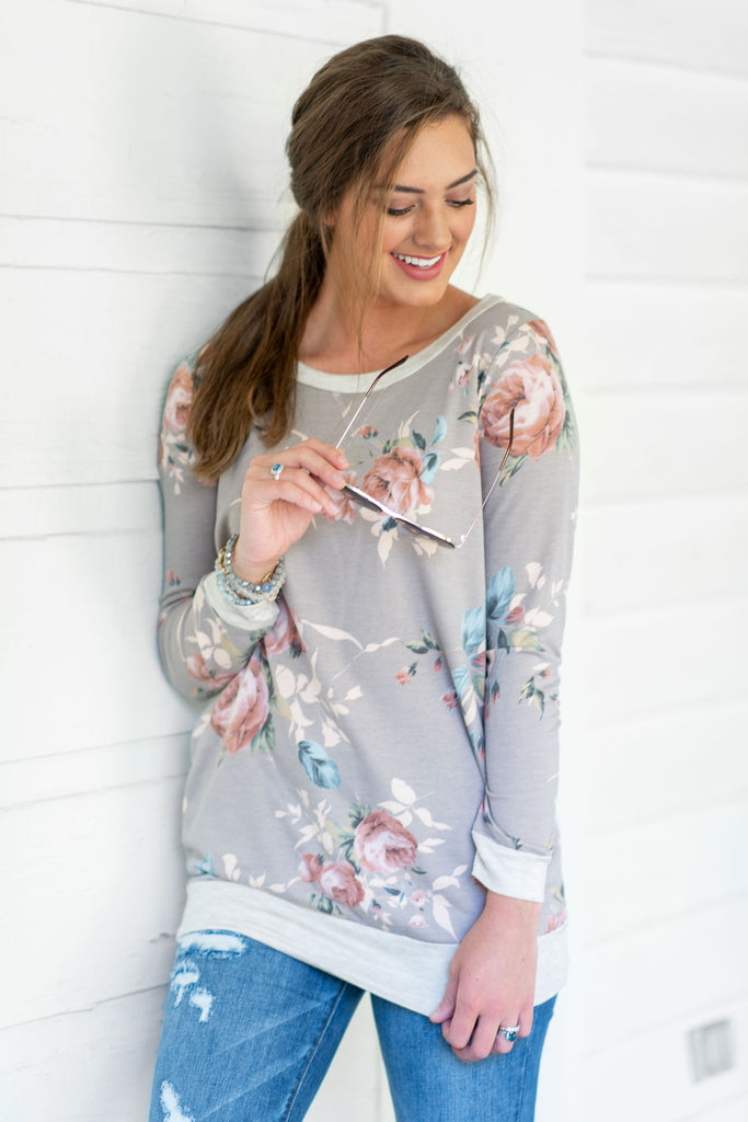 Fell For You Sweatshirt, Taupe