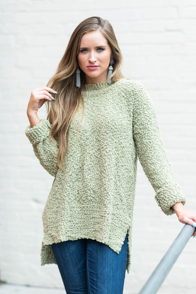 My Scene Sweater, Light Olive