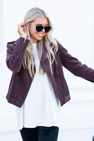 Along For The Ride Jacket, Plum