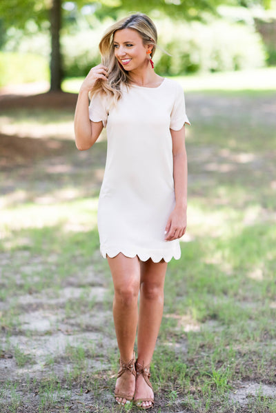 Precious Pursuits Dress, Cream