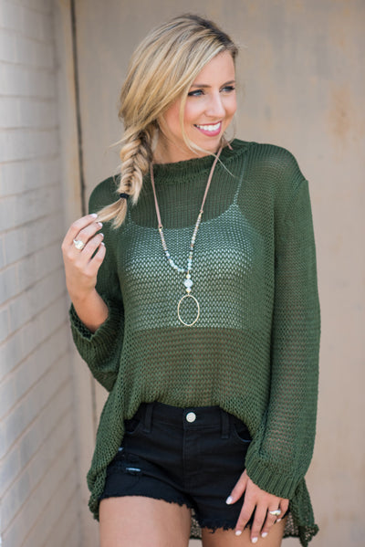 Surely Sweet Sweater, Olive