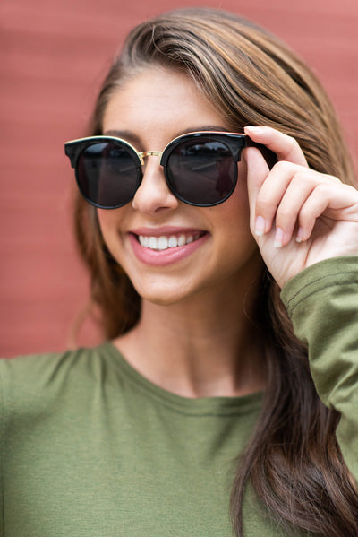 Show Some Sass Sunglasses, Black