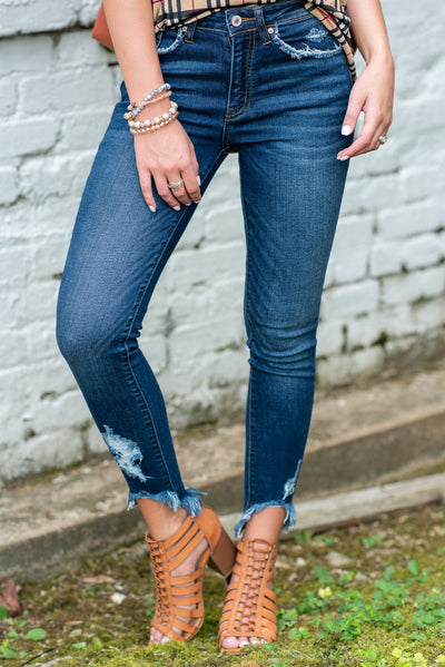At Sundown Skinny Jeans, Dark Wash