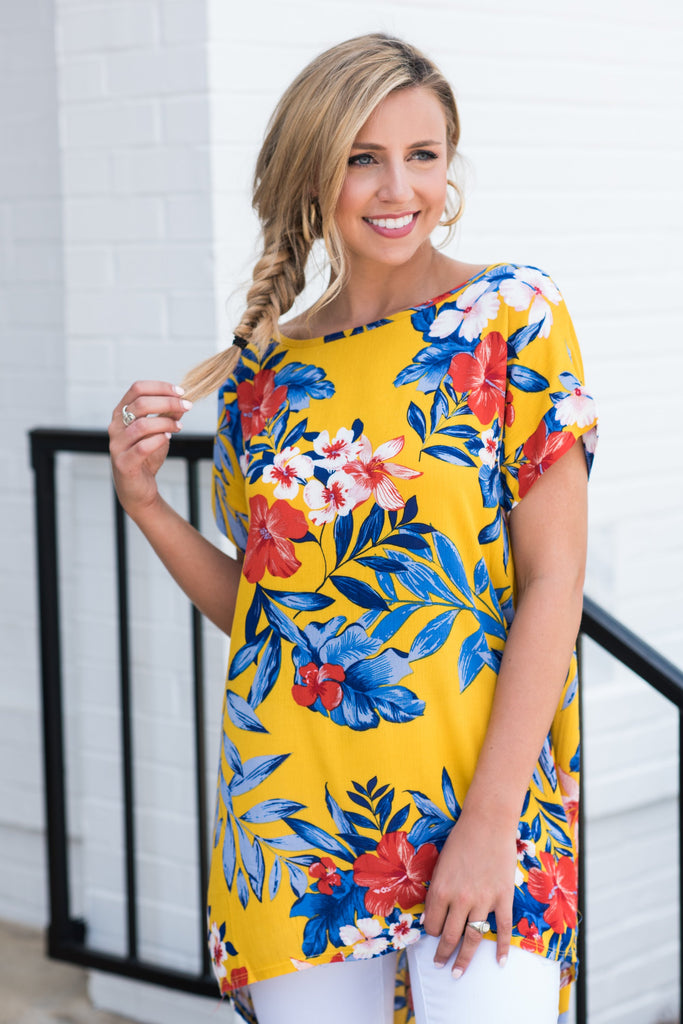 Tropical Traveling Tunic, Mustard