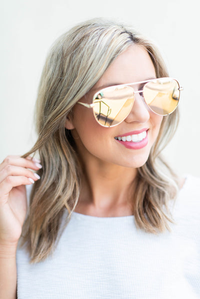 Quay Australia: High Key, Gold-Gold Mirror Lenses