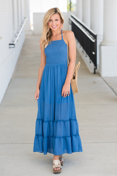 Spend Your Time Maxi Dress, Blue