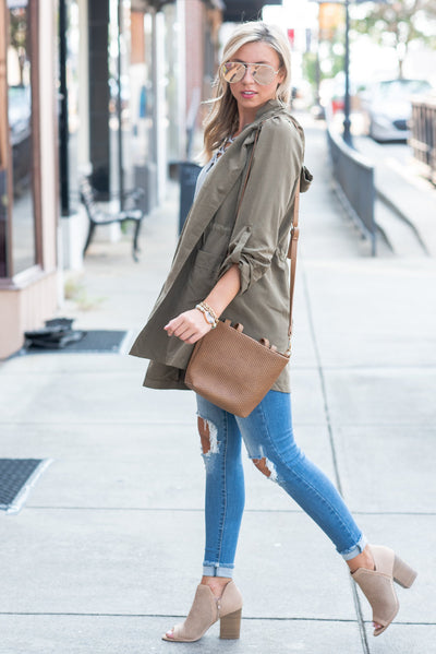 A Day in The City Jacket, Olive