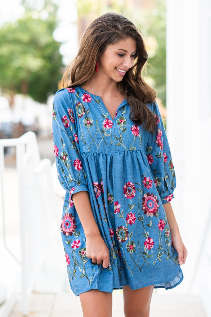Gorgeous Garden Dress, Chambray