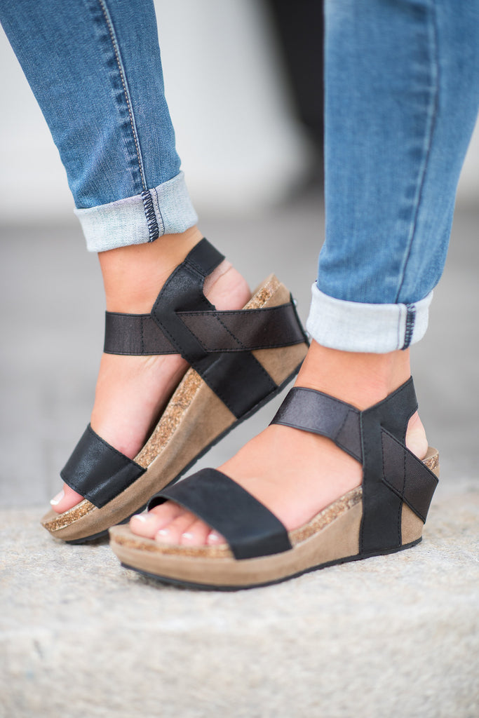 Feeling Good Wedges, Black