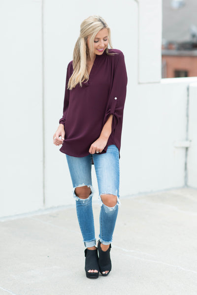Keeping Chic Top, Wine