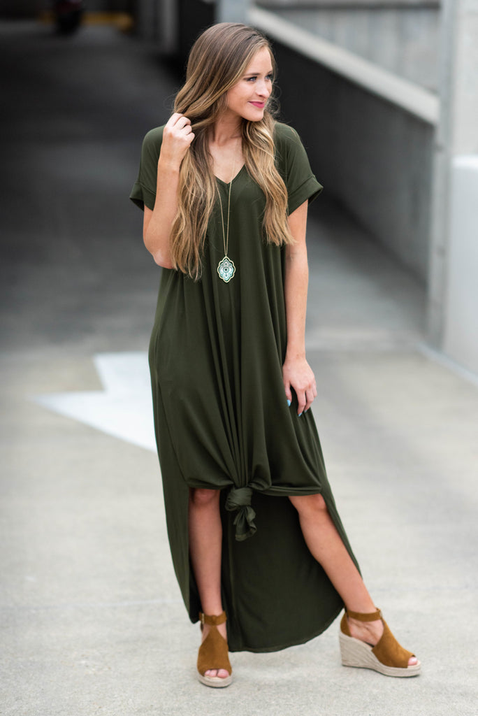 This Is No Dream Maxi Dress, Olive
