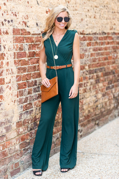Never Riding Solo Jumpsuit, Hunter Green