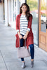 cardigan, casual, top, chunky, fall, winter, cozy, layers, outerwear, red, rust, orange, trendy, shopping, everyday, light, spandex, rayon, polyester