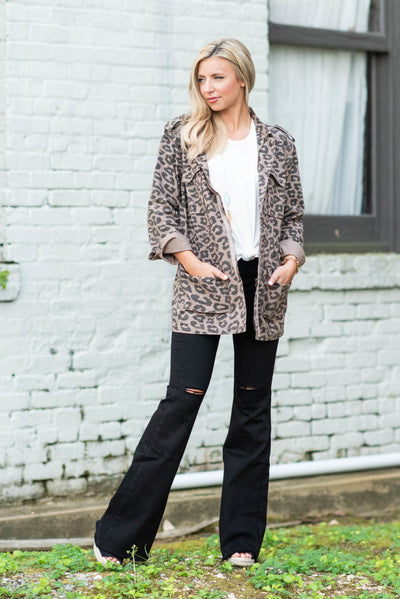 City Views Jacket, Leopard