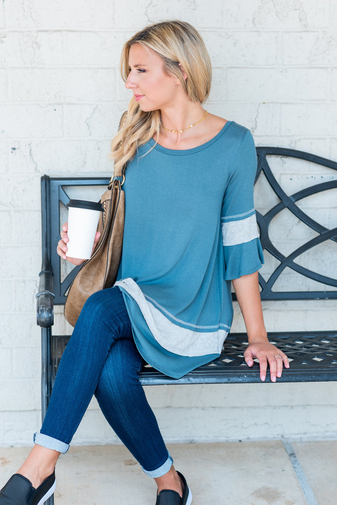 Come Back To Me Tunic, Faded Teal