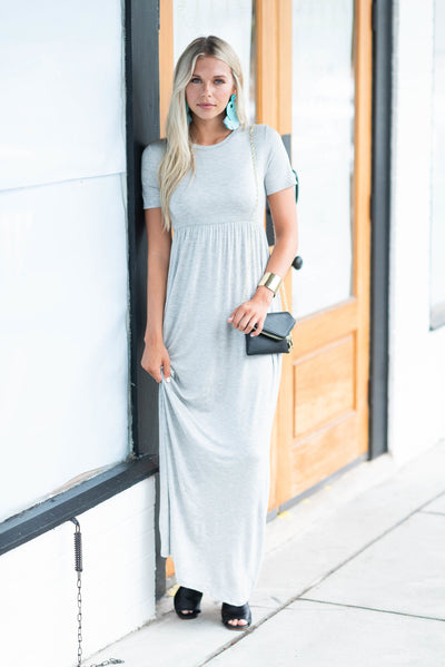 Such A Legend Maxi Dress, Heather Gray